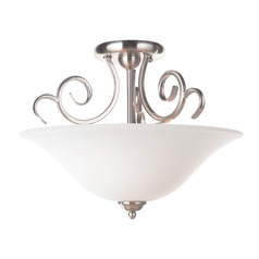 Craftmade Lighting Cecilia Brushed Satin Nickel Semi-Flushmount Light
