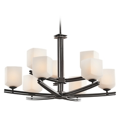Kichler Lighting Kichler Nine-light Two-Tier Transitional Chandelier 42294AVI