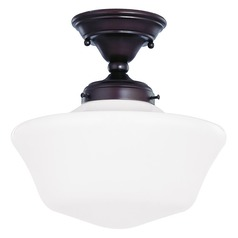 Design Classics Lighting 12-Inch Schoolhouse Ceiling Light in Bronze Finish FAS-220 / GA12