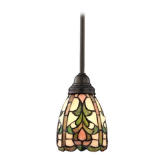 Design Classics Lighting Tiffany Mini-Pendant Light  1621 TB