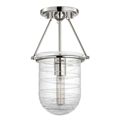 Hudson Valley Lighting Willet Polished Nickel Semi-Flushmount Light