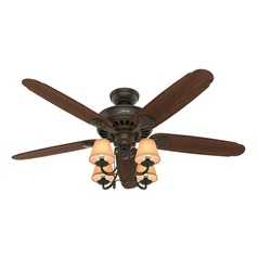 54-Inch Hunter Fan Cortland Ceiling Fan with Light - New Bronze Finish