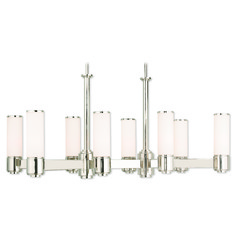 Livex Lighting Weston Polished Nickel Island Light with Cylindrical Shade