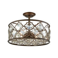 Elk Lighting Armand Weathered Bronze Semi-Flushmount Light