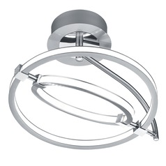 Arnsberg Kowloon Nickel Matte LED Semi-Flushmount Light