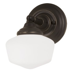 Schoolhouse Sconce Bronze Academy by Sea Gull Lighting
