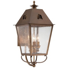 Minka Lighting Erenshire English Brass Outdoor Wall Light