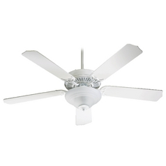 Quorum Lighting Capri IIi Studio White Ceiling Fan with Light