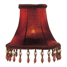 Red Bell Lamp Shade with Clip-On Lamp Shade Assembly