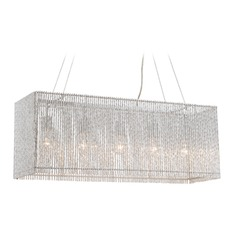 Lite Source Rania Chrome Pendant Light with Rectangle Shade