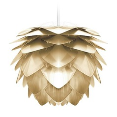 UMAGE White Plug-In Swag Pendant Light with Abstract Shade