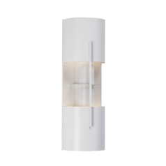 Modern Sconce Wall Light in Satin White Finish