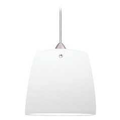 Wac Lighting Contemporary Collection Brushed Nickel Mini-Pendant with Drum Shade