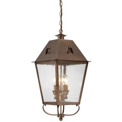 Minka Lighting Erenshire English Brass Outdoor Hanging Light