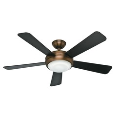 Hunter Fan Company Palermo Brushed Bronze Ceiling Fan with Light