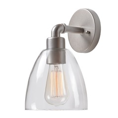 Kenroy Home Steam Fitter Galvanized Metal Sconce