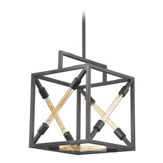 Dimond Box Tube Oil Rubbed Bronze Pendant Light