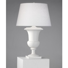 Robert Abbey Helena Matte White Table Lamp with Empire Shade