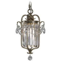 Mini-Pendant Light in Gilded Silver Finish
