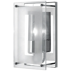 Lite Source Lighting Wick Chrome Sconce