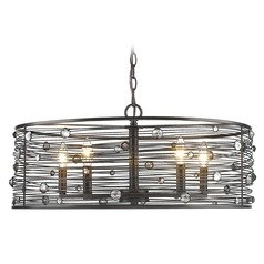 Bijoux 5 Light Chandelier in Brushed Etruscan Bronze