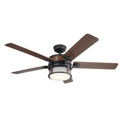 60-Inch 5 Blade LED Ceiling Fan with Light Auburn Stained by Kichler Lighting