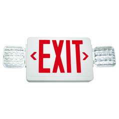LED Exit Sign & Emergency Light - White Finish