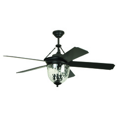 Ellington Cavalier Aged Bronze Brushed Ceiling Fan with Light