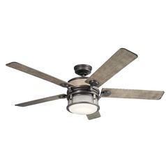 60-Inch 5 Blade LED Ceiling Fan with Light Anvil Iron by Kichler Lighting