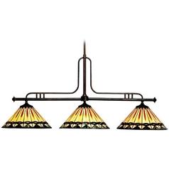 Kichler Billiard Light with Multi-Color Glass in Tannery Bronze Finish