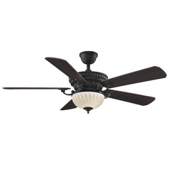 Fanimation Fans Ventana Dark Bronze Ceiling Fan with Light