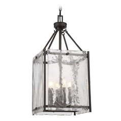 Savoy House Lighting Glenwood English Bronze Pendant Light with Square Shade