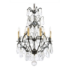 Crystal Chandelier in Patina Bronze Finish