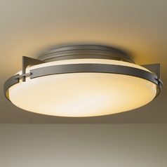 Hubbardton Forge Lighting Metra Dark Smoke Semi-Flushmount Light