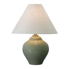 House Of Troy Scatchard Celadon Table Lamp with Conical Shade