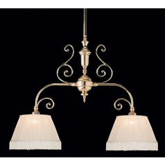 Crystorama Lighting Hot Deal Polished Brass Island Light with Empire Shade