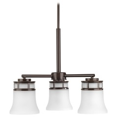 Transitional Mini-Chandelier Bronze Cascadia by Progress Lighting