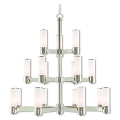 Livex Lighting Weston Polished Nickel Chandelier