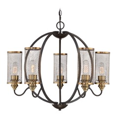 Quoizel Lighting Denton Western Bronze Chandelier
