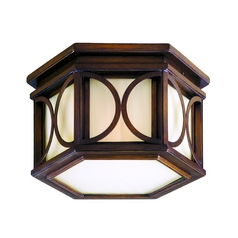 Corbett Lighting Close To Ceiling Light with Beige / Cream Glass in Holmby Hills Bronze Finish 61-33