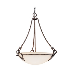 Pendant Light with White Glass in Pompeii Silver Finish