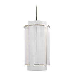 Progress Crystal Pendant Light in Polished Nickel Finish