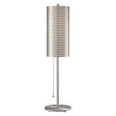 Modern Table Lamp in Brushed Nickel Finish