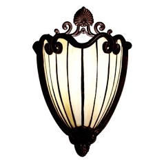 Kichler Lighting Kichler Sconce Wall Light with Amber Shades in Bronze / Gold Finish 69043