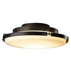 Hubbardton Forge Lighting Metra Dark Smoke LED Semi-Flushmount Light