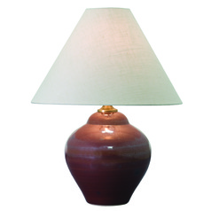 House of Troy Scatchard Iron Red Table Lamp with Conical Shade