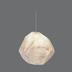 Fine Art Lamps Natural Inspirations Silver Leaf Mini-Pendant Light