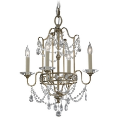 Feiss 4-Light Mini Chandelier in Gilded Silver