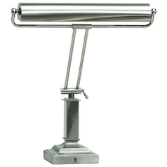 Piano / Banker Lamp in Satin Nickel Finish