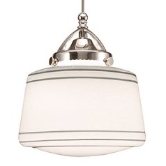 WAC Lighting Brushed Nickel LED Mini-Pendant with Drum Shade